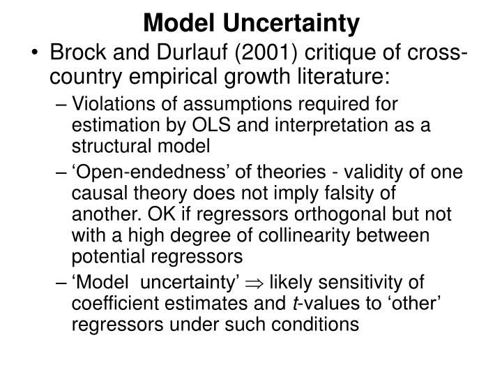 Model Uncertainty