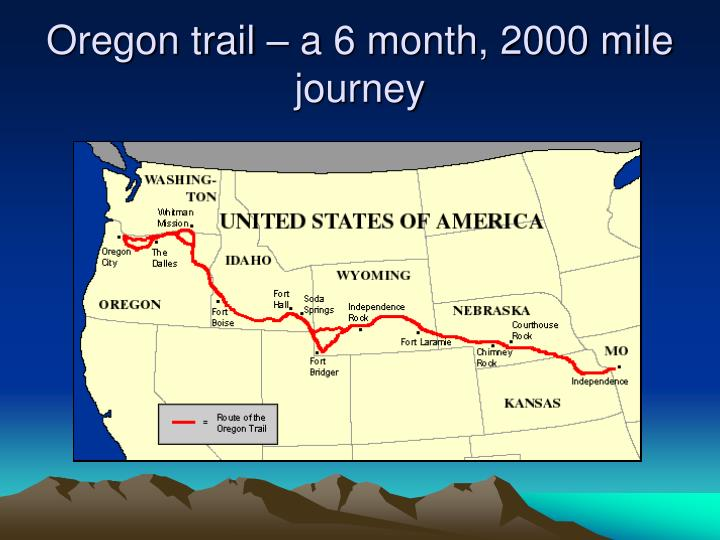 Oregon trail – a 6 month, 2000 mile journey