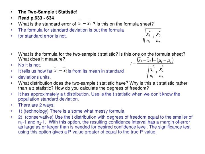 The Two-Sample t Statistic!