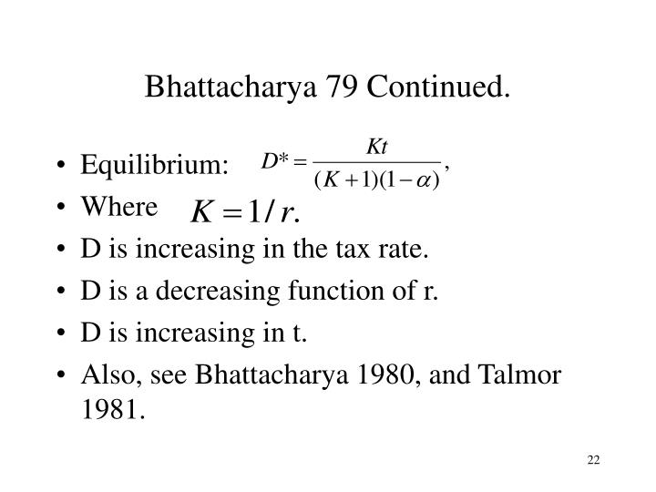 Bhattacharya 79 Continued.