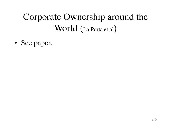 Corporate Ownership around the World (