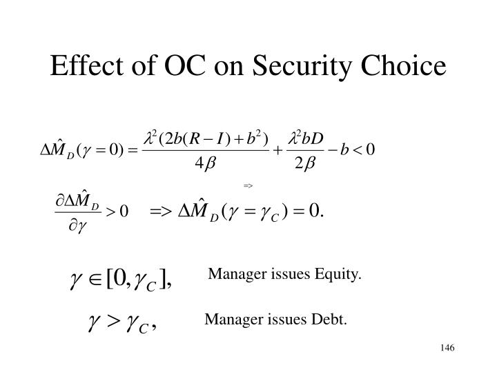 Effect of OC on Security Choice