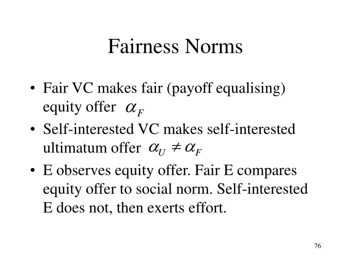 Fairness Norms