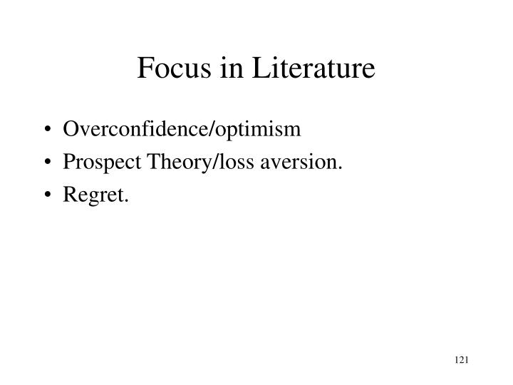 Focus in Literature
