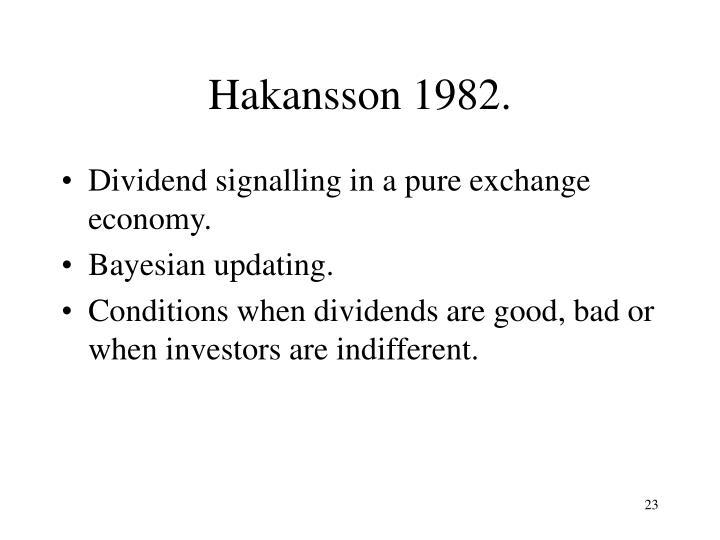 Hakansson 1982.