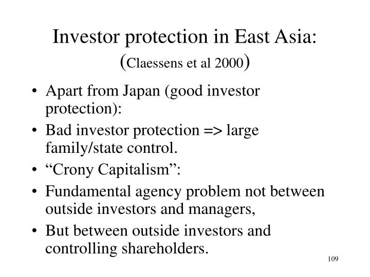 Investor protection in East Asia:
