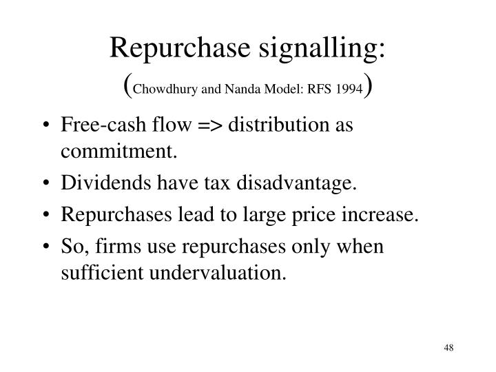 Repurchase signalling:
