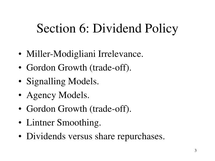 Section 6 dividend policy