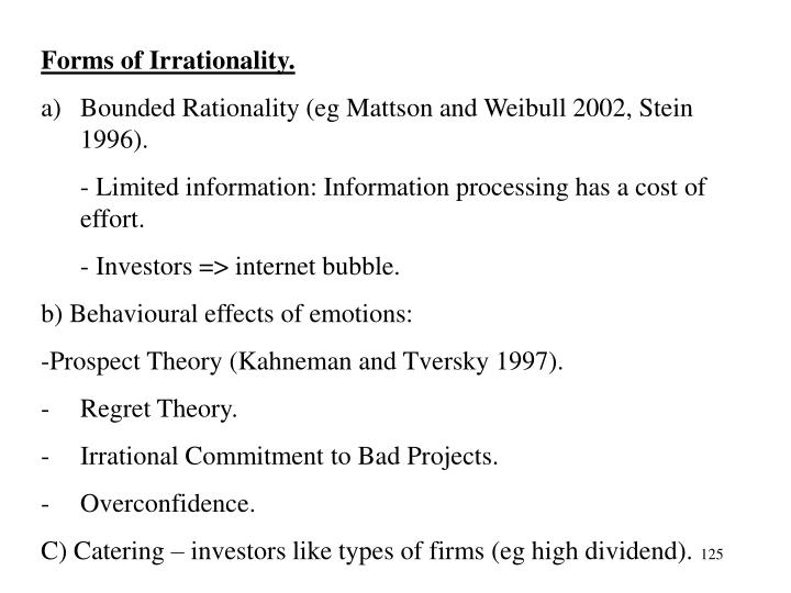 Forms of Irrationality.