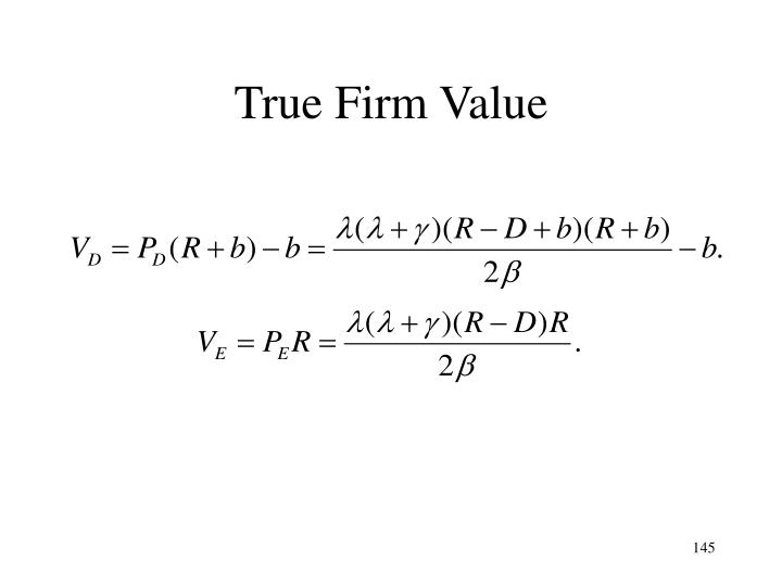 True Firm Value