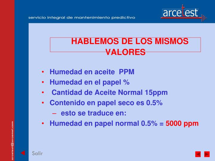 HABLEMOS DE LOS MISMOS VALORES
