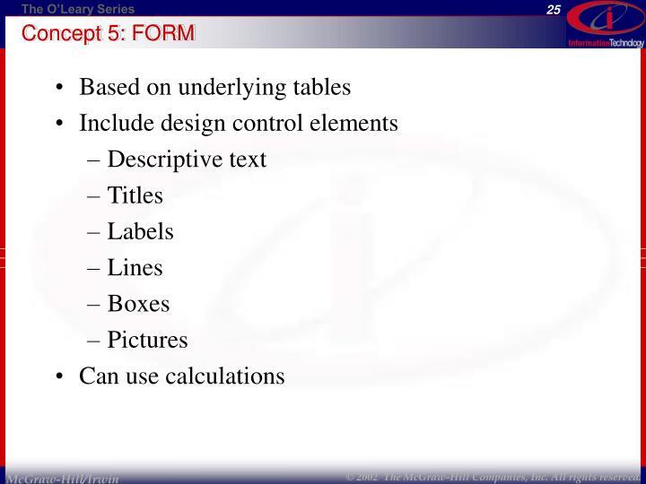 Concept 5: FORM