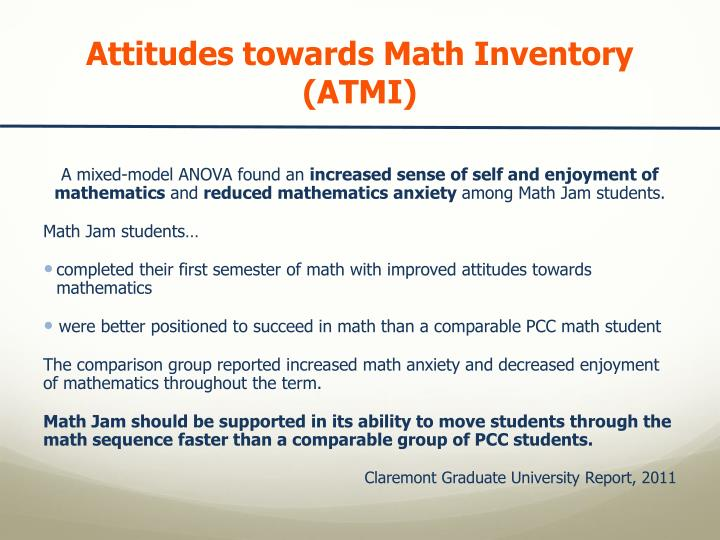 Attitudes towards Math Inventory  (ATMI)