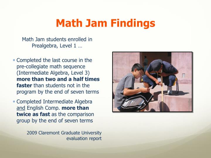 Math Jam Findings