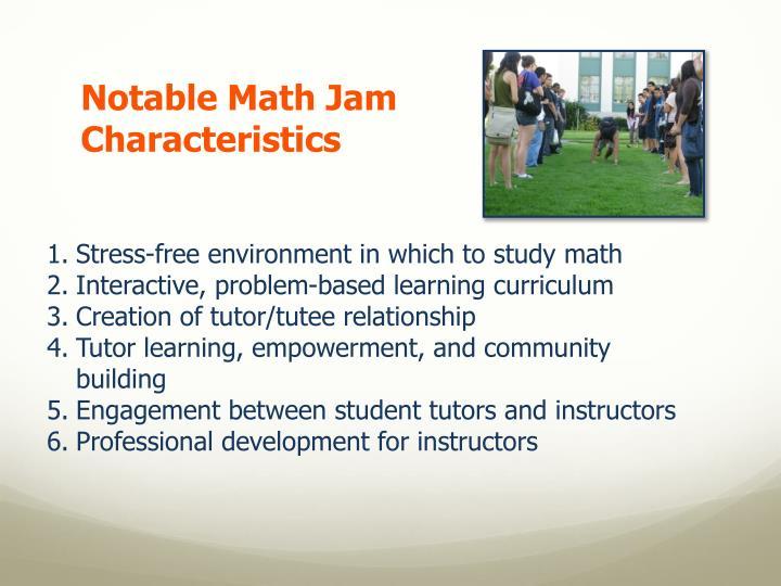 Notable Math Jam