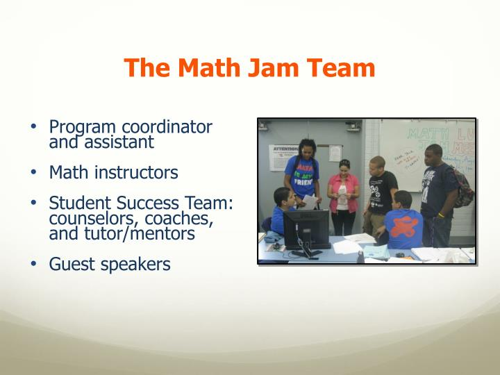 The Math Jam Team