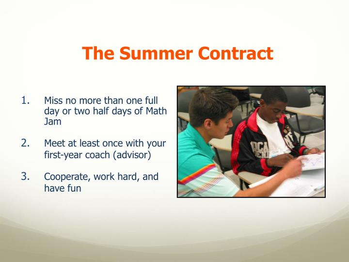 The Summer Contract