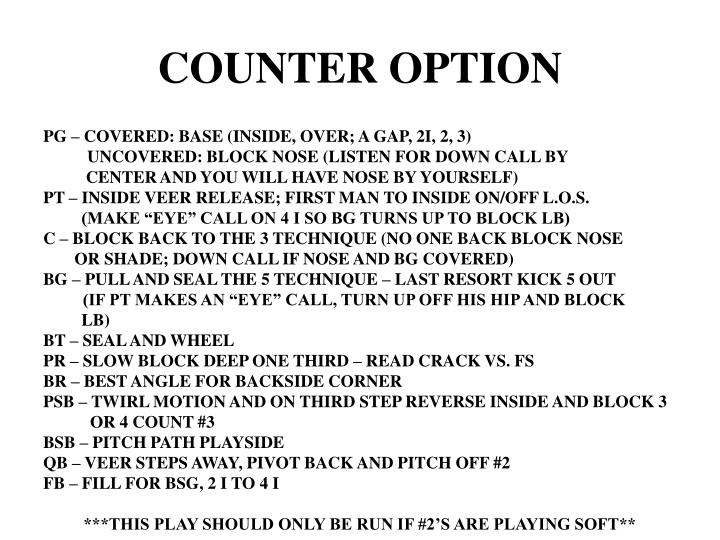 COUNTER OPTION