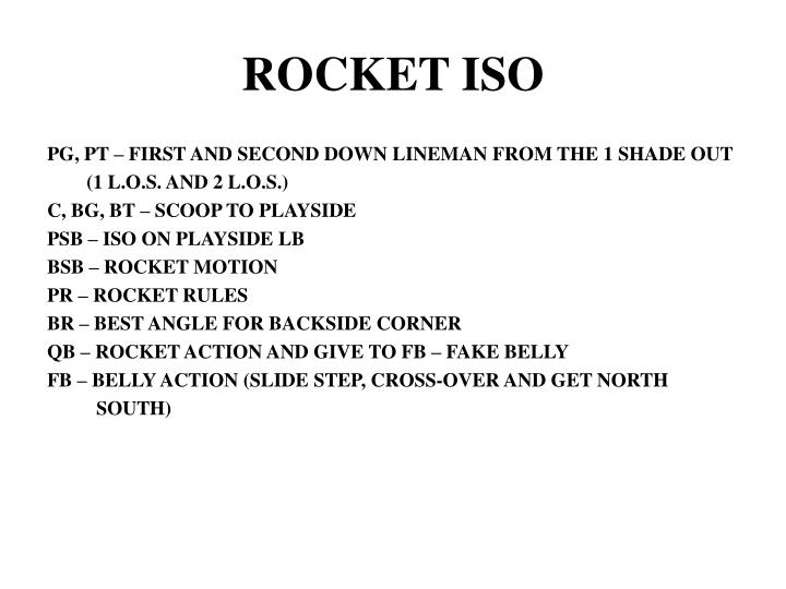 ROCKET ISO
