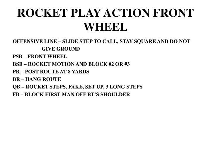 ROCKET PLAY ACTION FRONT WHEEL