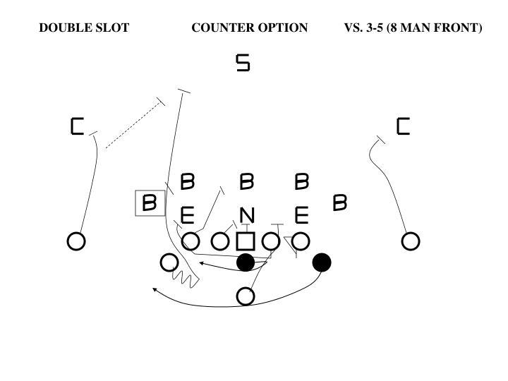 DOUBLE SLOTCOUNTER OPTIONVS. 3-5 (8 MAN FRONT)