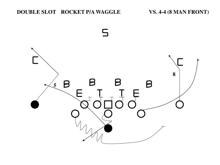 DOUBLE SLOTROCKET P/A WAGGLEVS. 4-4 (8 MAN FRONT)