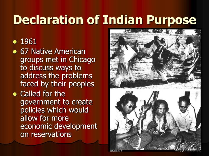 Declaration of Indian Purpose