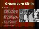 greensboro sit in
