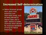 increased self determination