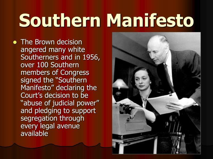 Southern Manifesto