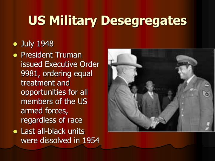 US Military Desegregates