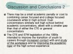 discussion and conclusions 2