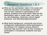 research questions 1 2