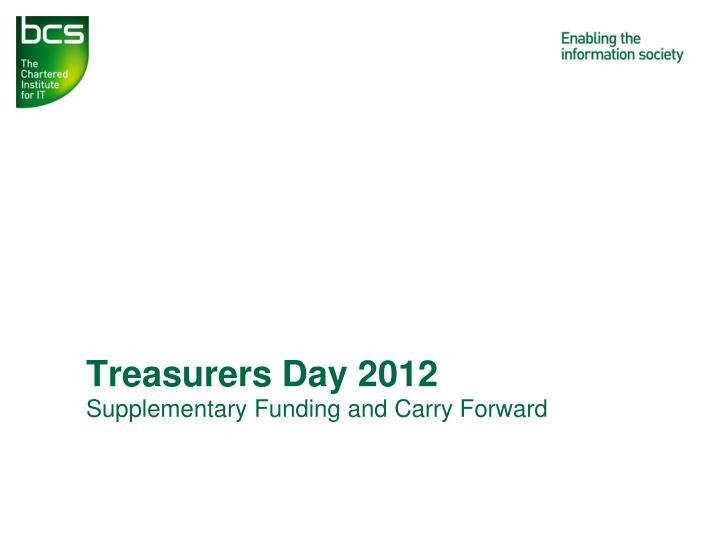 Treasurers Day 2012