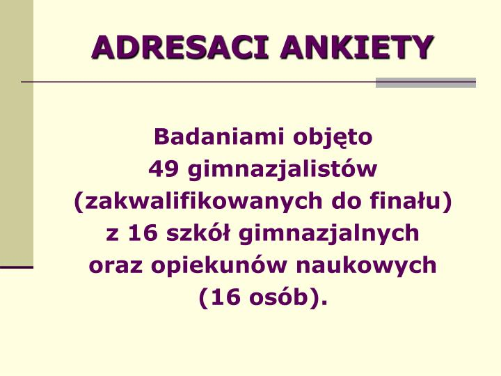 ADRESACI ANKIETY