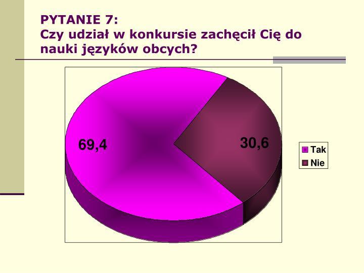 PYTANIE 7: