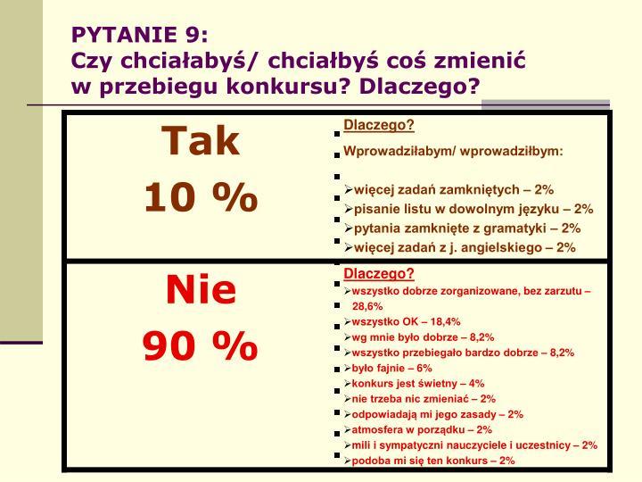 PYTANIE 9: