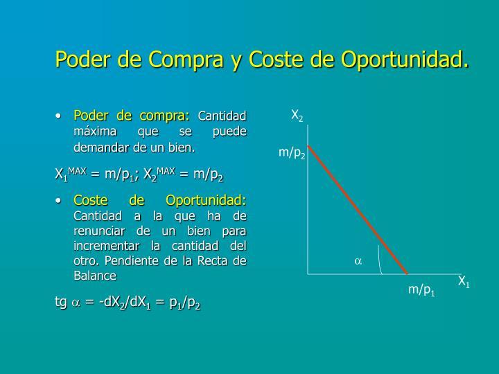 Poder de Compra y Coste de Oportunidad.