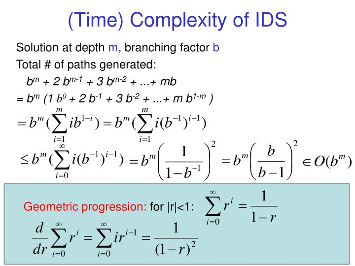 (Time) Complexity of IDS