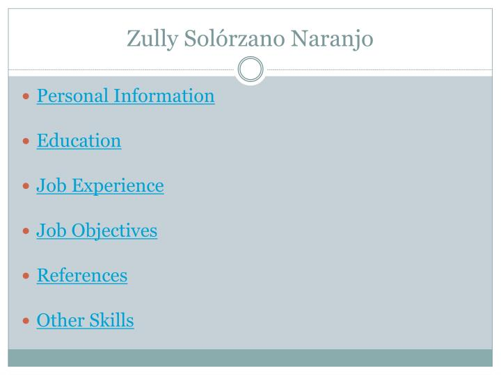 Zully Solórzano Naranjo