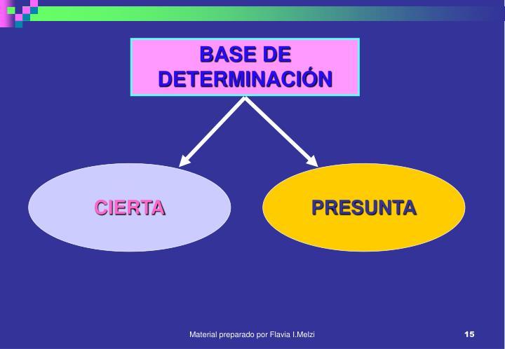 BASE DE DETERMINACIÓN