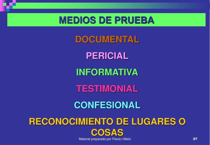 MEDIOS DE PRUEBA