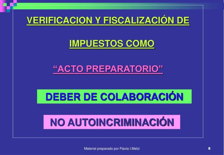 VERIFICACION Y FISCALIZACIÓN DE IMPUESTOS COMO