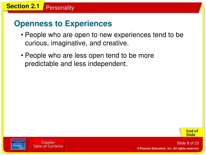 Openness to Experiences