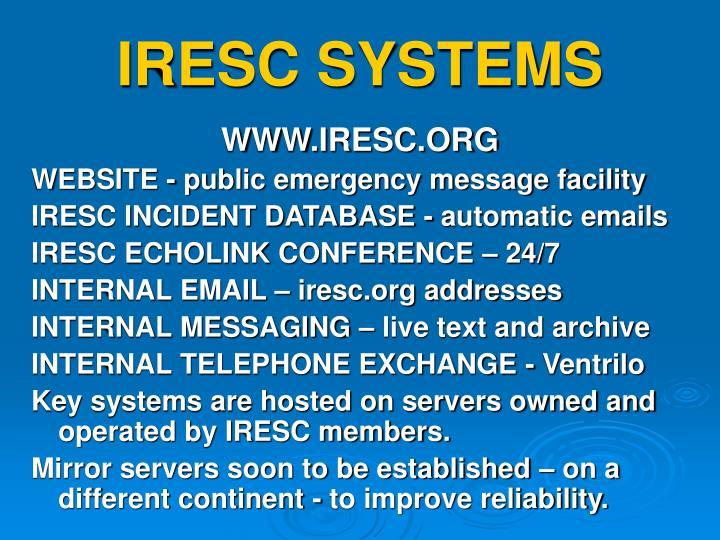 IRESC SYSTEMS