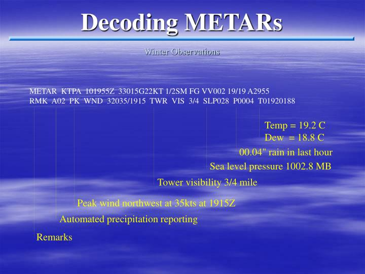Decoding METARs