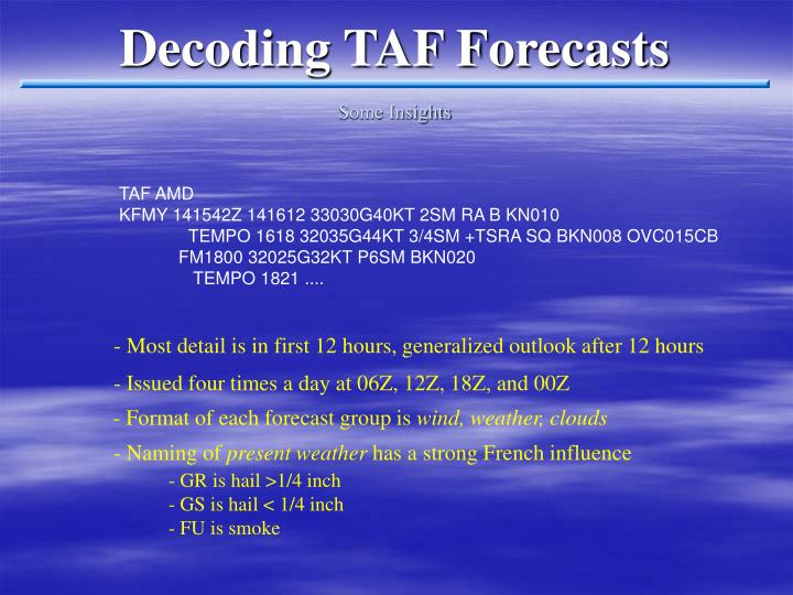 Decoding TAF Forecasts