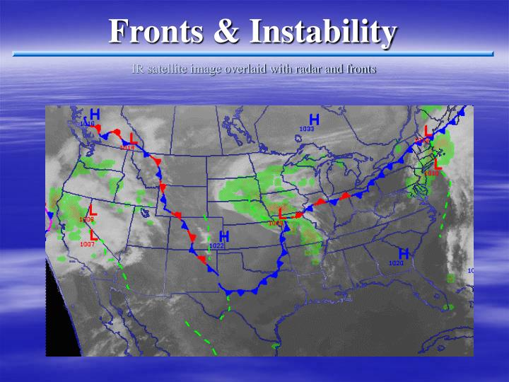 Fronts & Instability