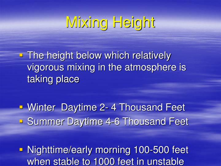 Mixing Height