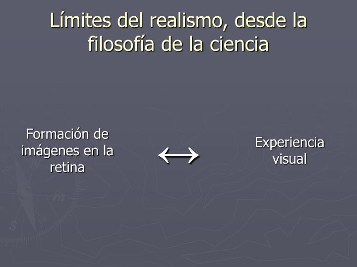 Límites del realismo, desde la filosofía de la ciencia
